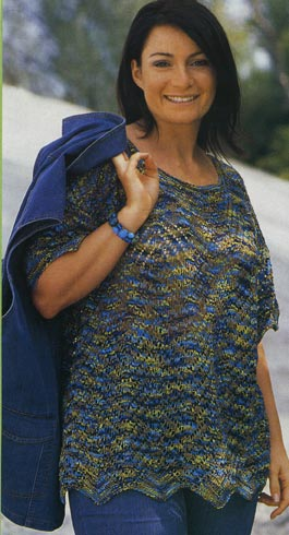 Вязание кофты для полных дам