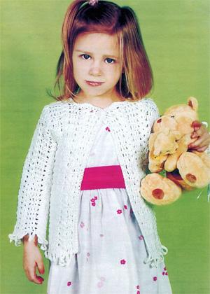 Жакет для девочки 3 лет