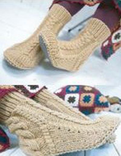 Вязание крючком схемы носки и тапочки.