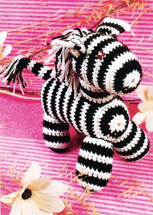 Зебра. Вязание крючком