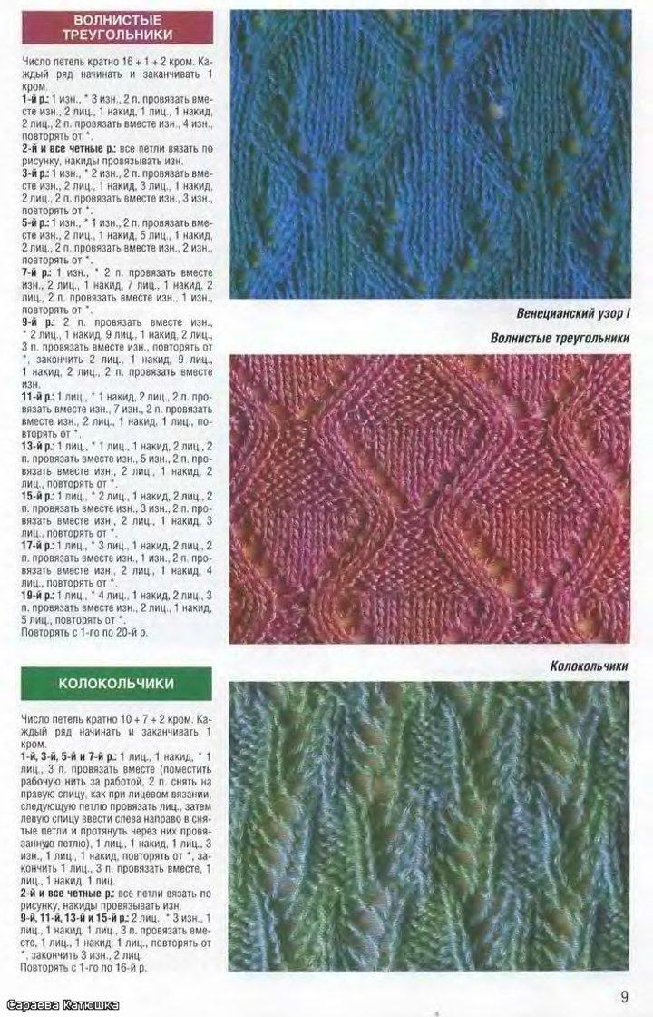 плотный узор для вязания спицами со схемами