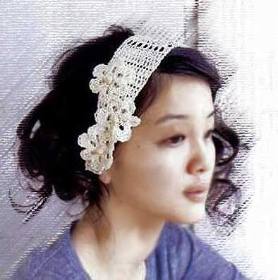 вязаная повязка на голову.