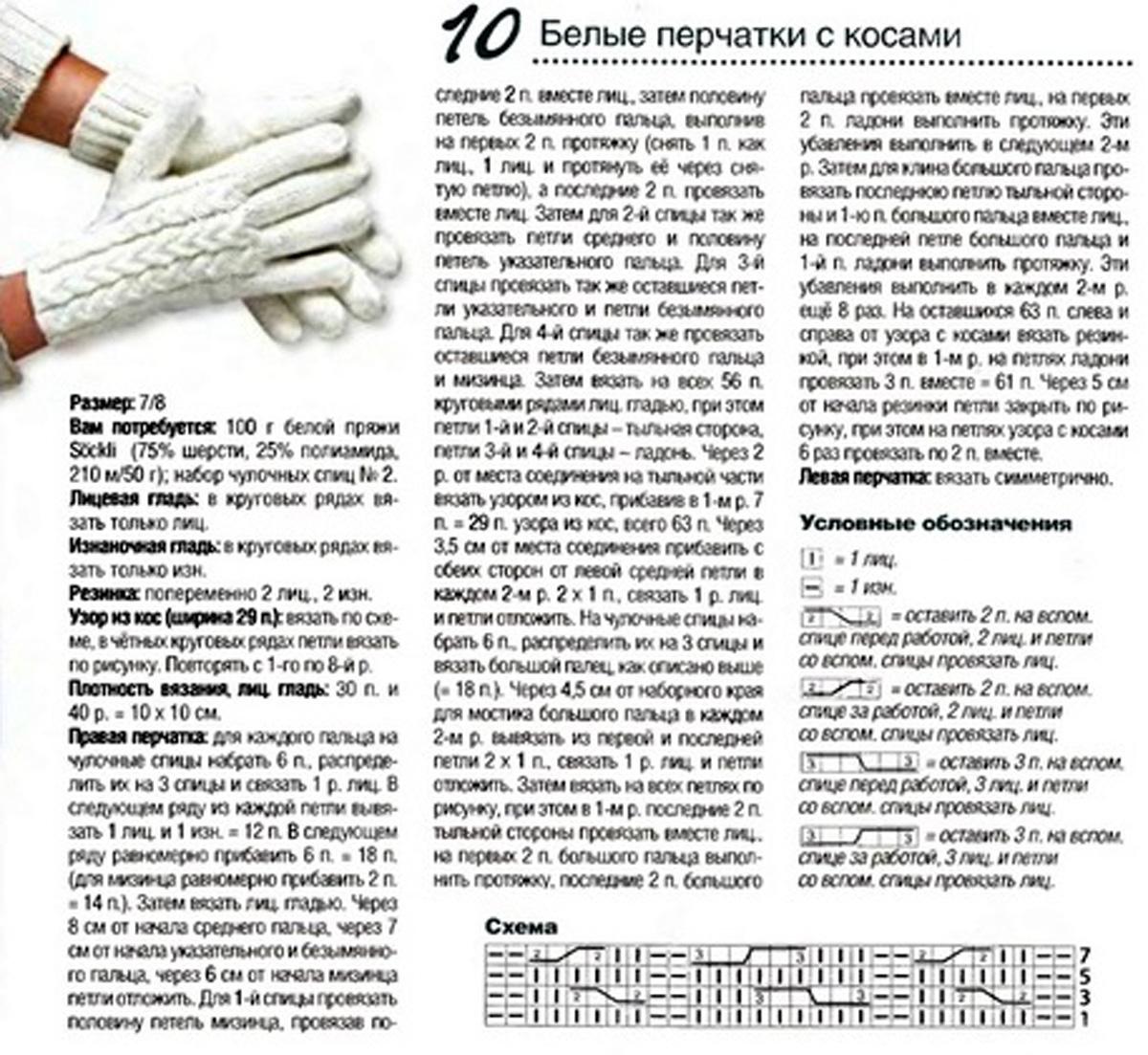 Вязание перчаток для начинающих с