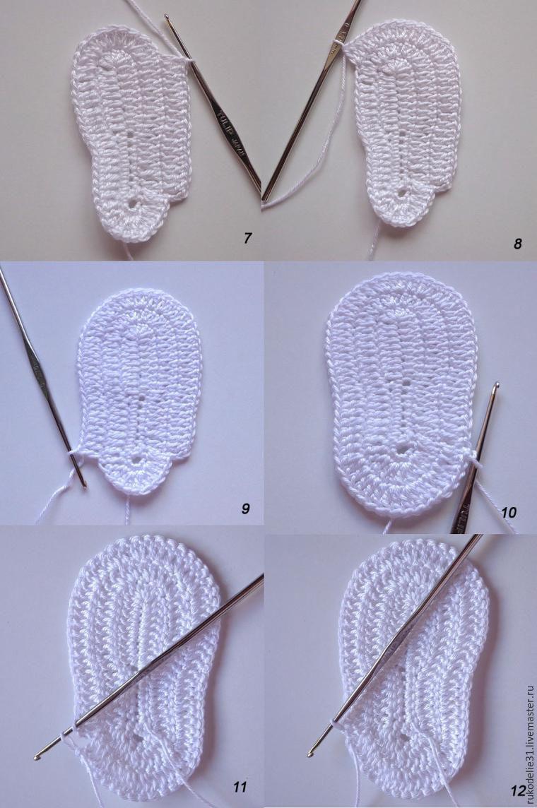 Вяжем пинетки и схему к вязанию