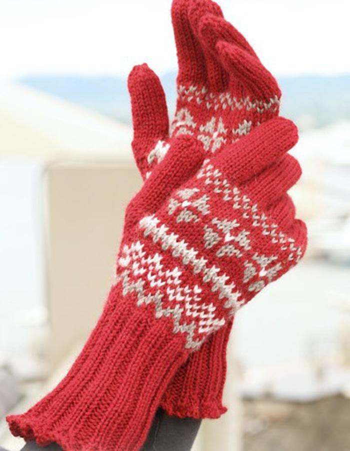 метод вязания перчаток с