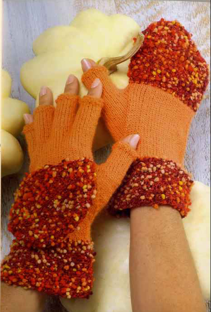 Вяжем веселые перчатки без