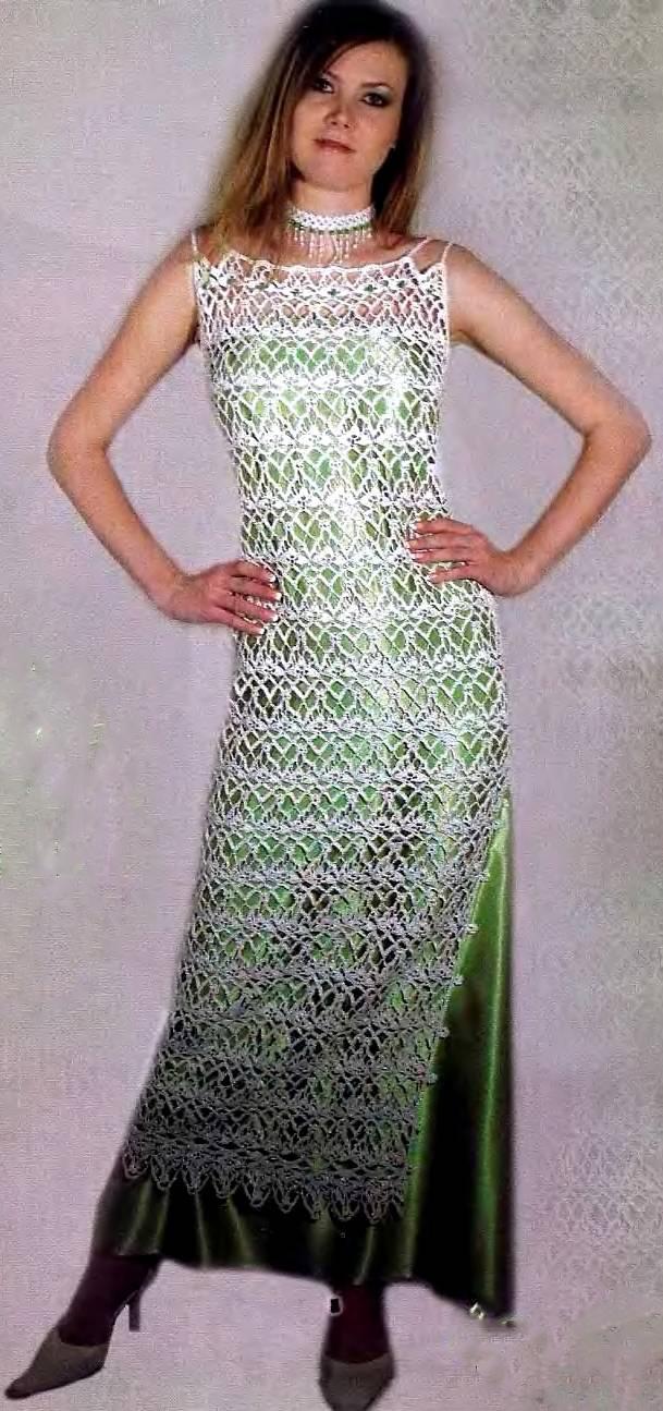 схемы вязания нарядных платьев спицами