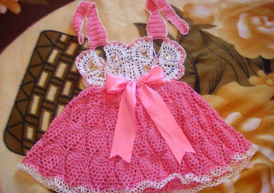 Вязание детского платья с