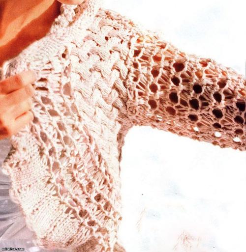 Схемы вязания шалей накидок