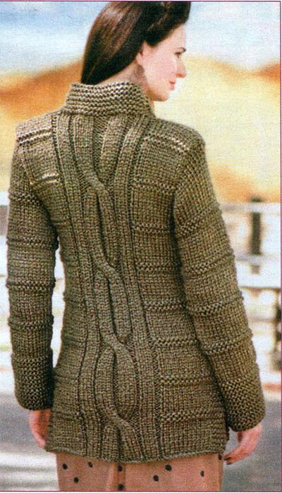 Вязание на спицах толстых свитеров 613