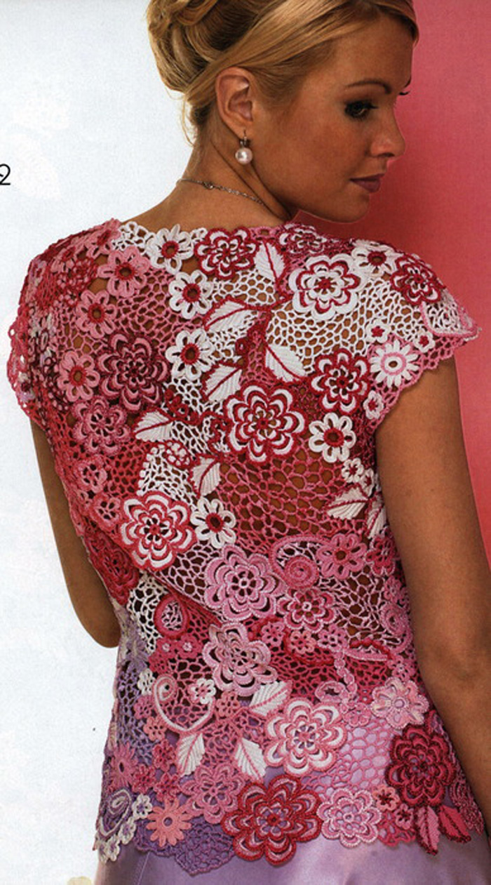 схемы вязания белой майки