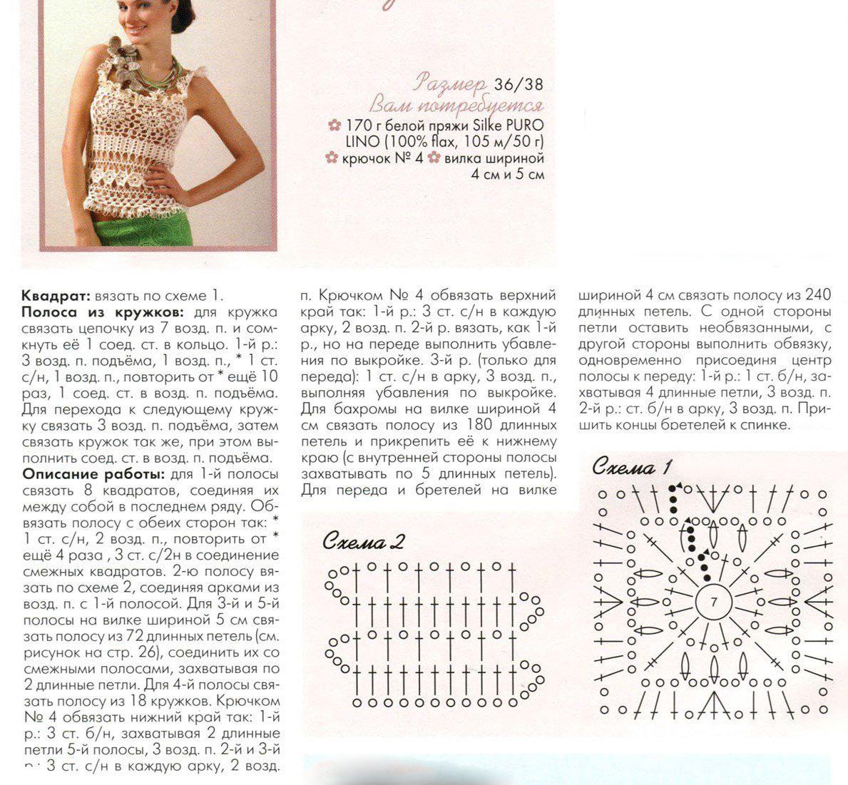 Бразильские модели крючком схемы