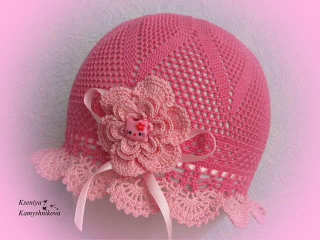 Ажурная солнцезащитная шапка