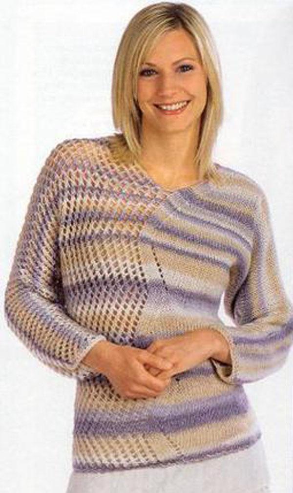 Пуловер у нас будет из тонкой