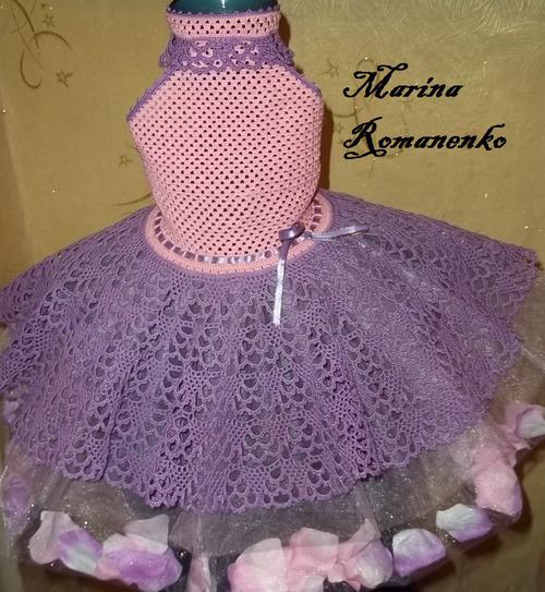 Вязание нарядного платья для