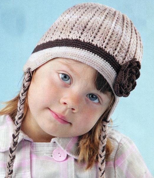 Для детей лучше вязать шапки с