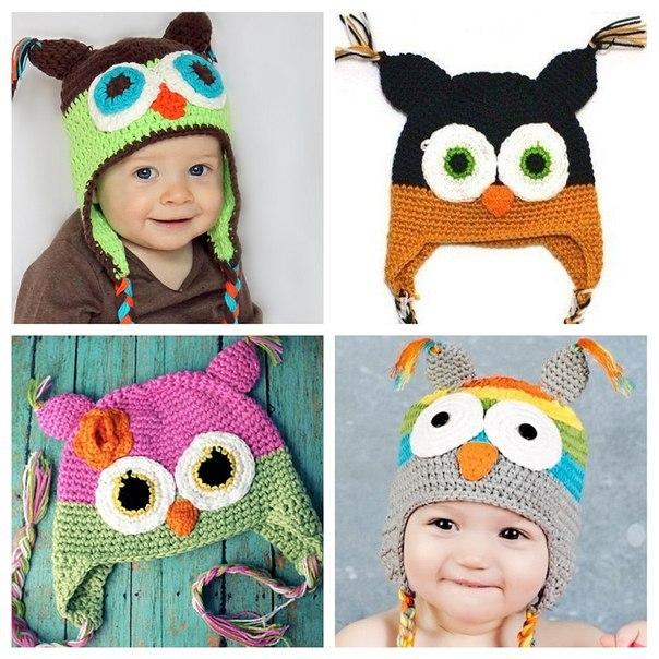 Детские шапки спицами со схемами