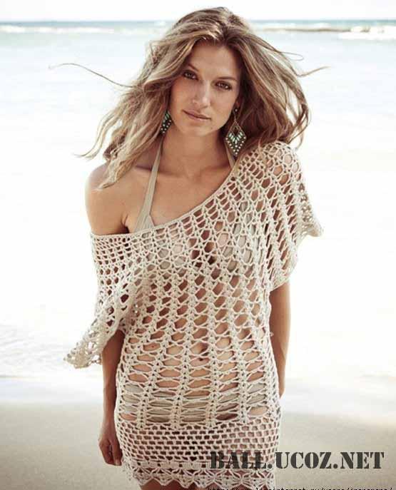 Схемы вязания. Вязанная туника