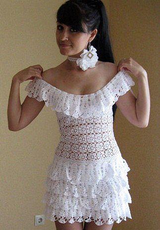 платья крючком со схемами