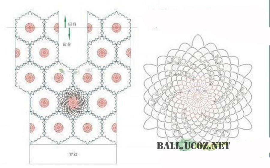 Схемы вязания крючком кофточек