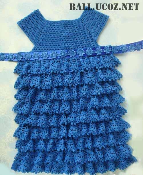 Вязание женского летнего платья