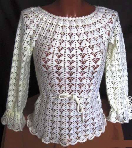 Схемы вязания. Блузка простым