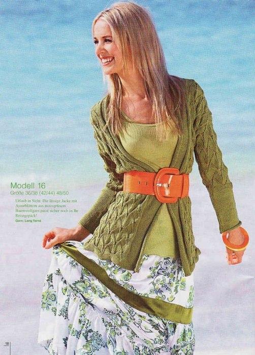 Вязание спицами летнего