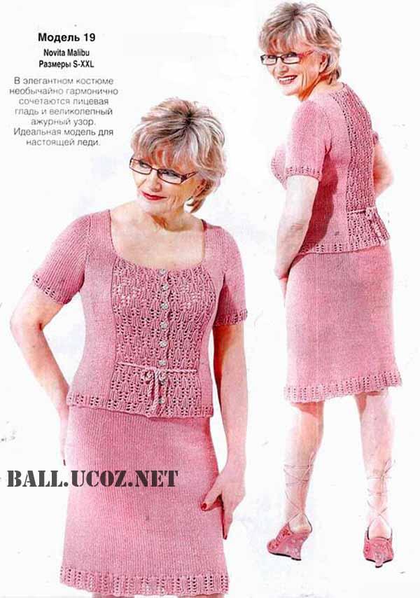 Вязание спицами юбки для женщин полных