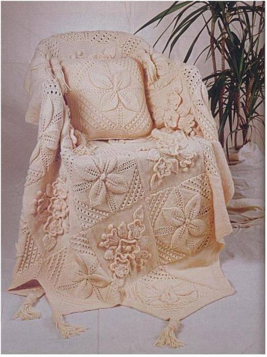 Схемы вязания вязание пледа и подушки
