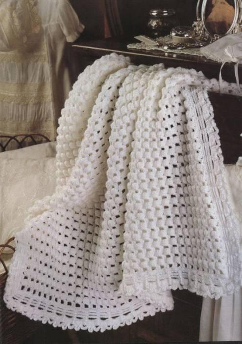 Вязание шапки сеткой