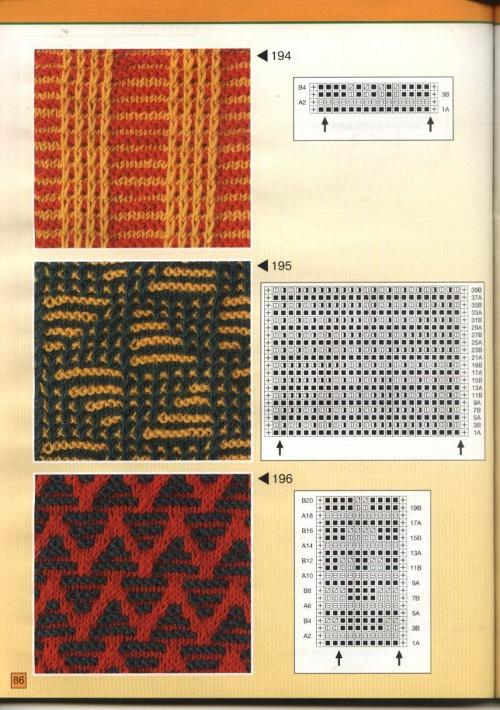 Двухцветные узоры со схемами