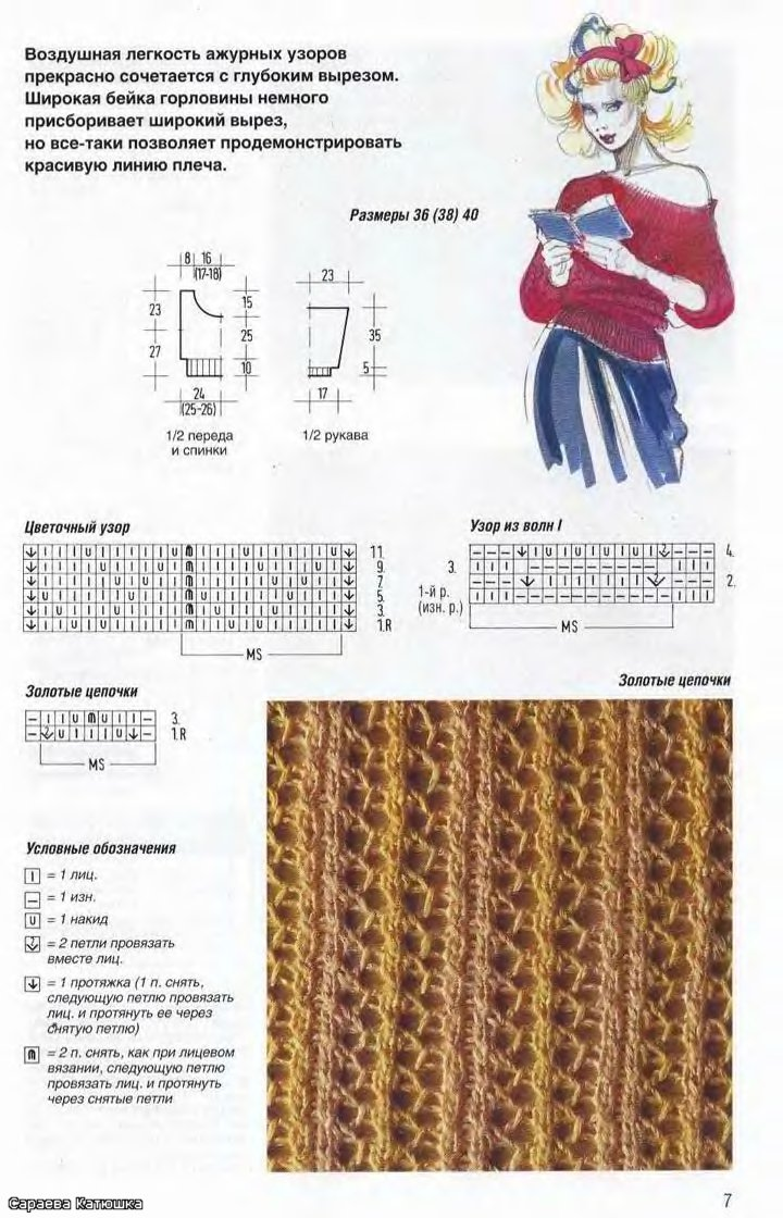 Вязание на спицах реглан