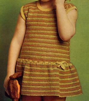 Вязание крючком детских платьев