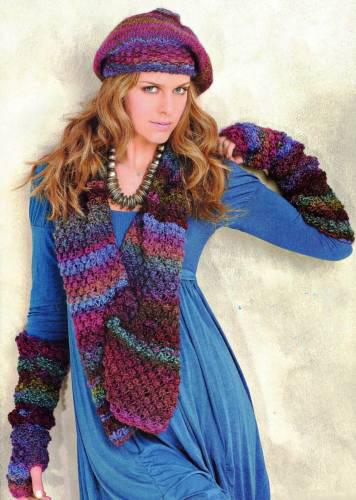 Схемы вязания. Берет шарф и