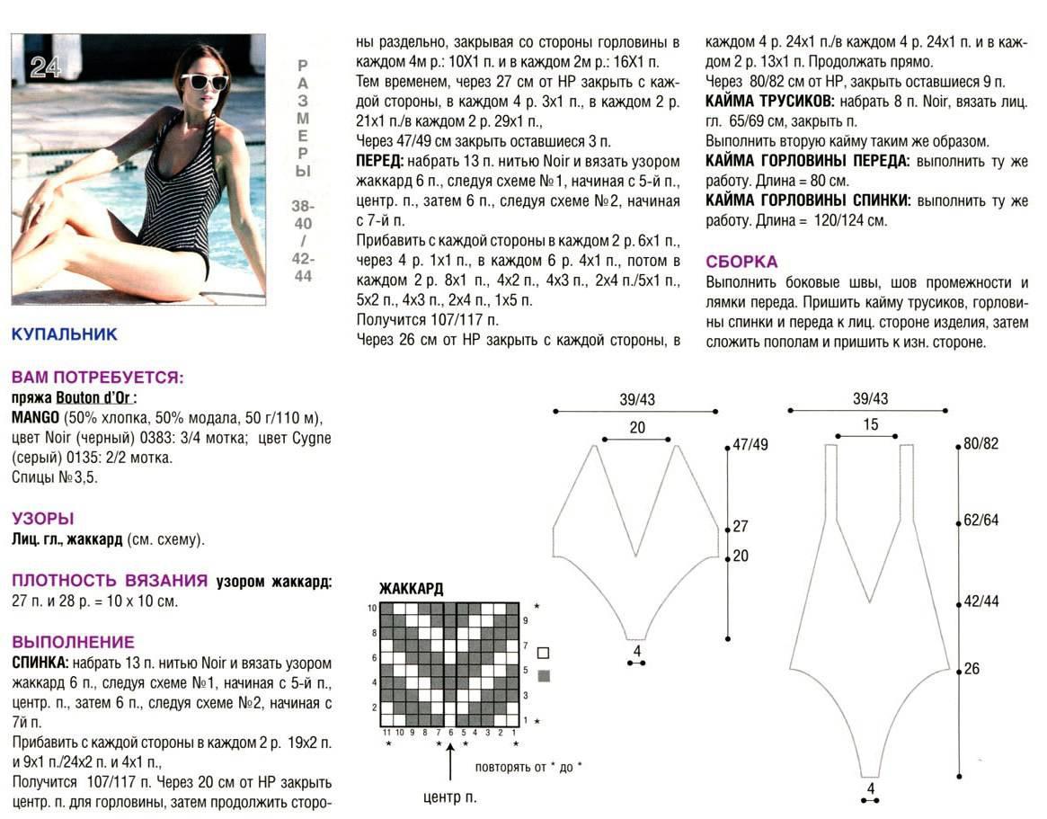 Модели крючком для женщин с описанием