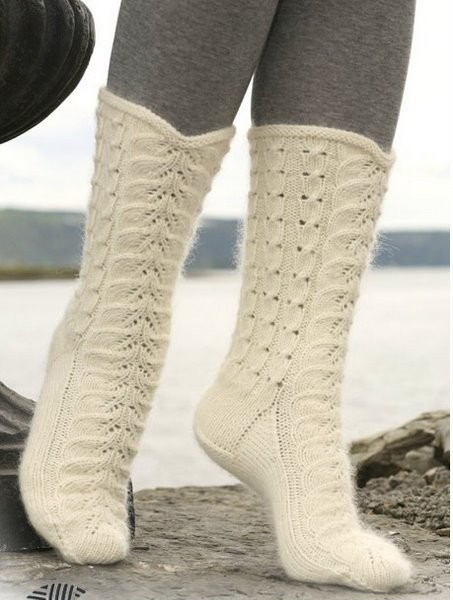 поиск вязание носков на спицах.