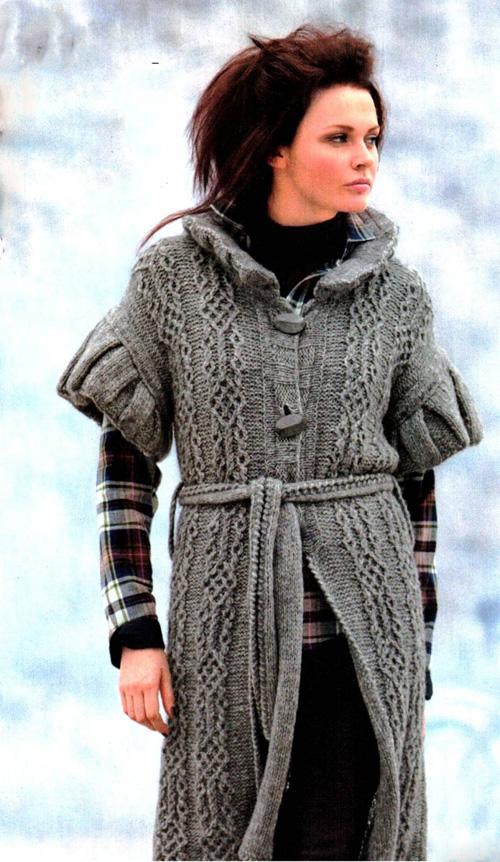 Вязание пальто схемы и модели