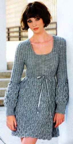 Схемы вязания. Платье