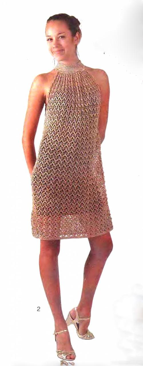 Платье сарафан вяжется крючком