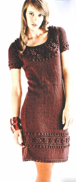 Схема вязаной женского платья