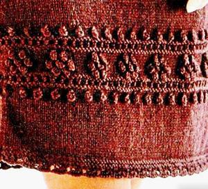 Вязания красивого женского платья с