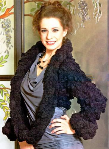 Схема вязания спицами модного