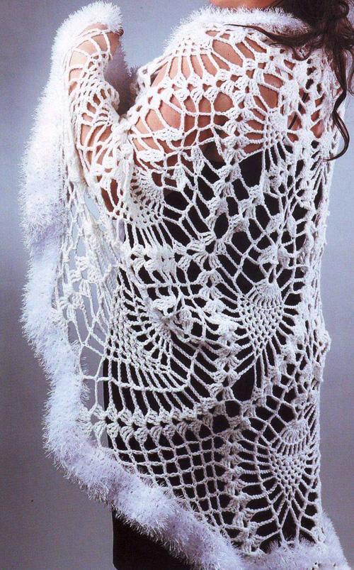 Схемы вязания. Шаль