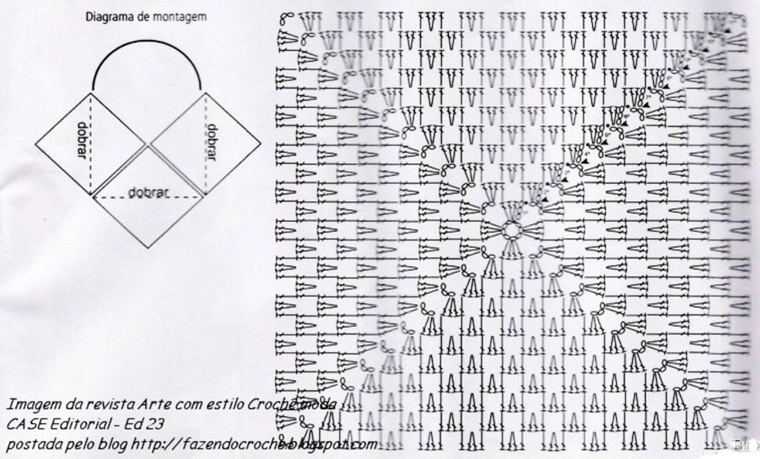 Ниже приведены схемы вязания