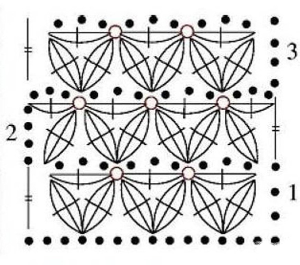 Уроки вязания спицами узора звездочки