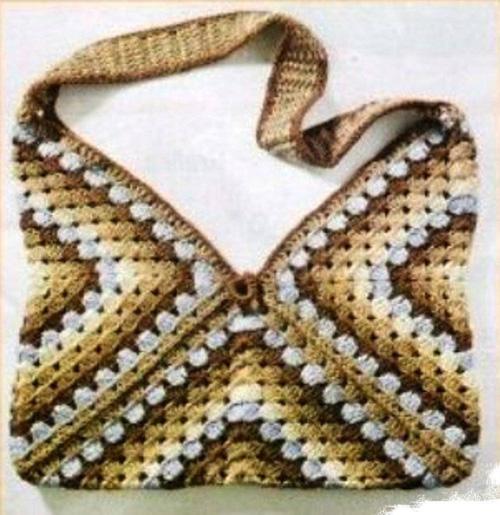 Простая схема вязания сумки.