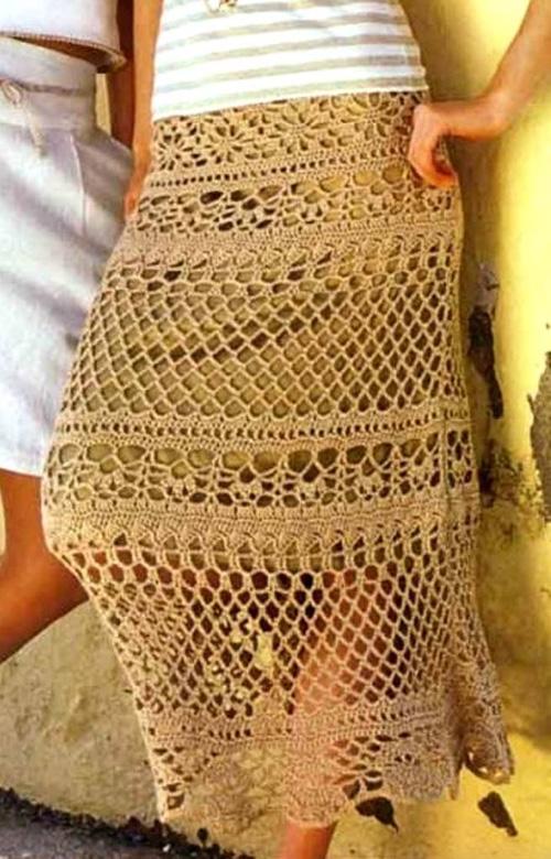 Юбка вязаная крючком схема. юбки вязаные крючком Схемы вязания.