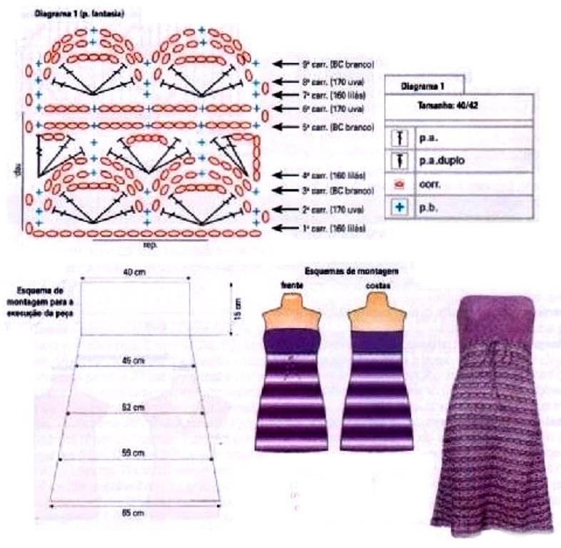 Схема вязания простой