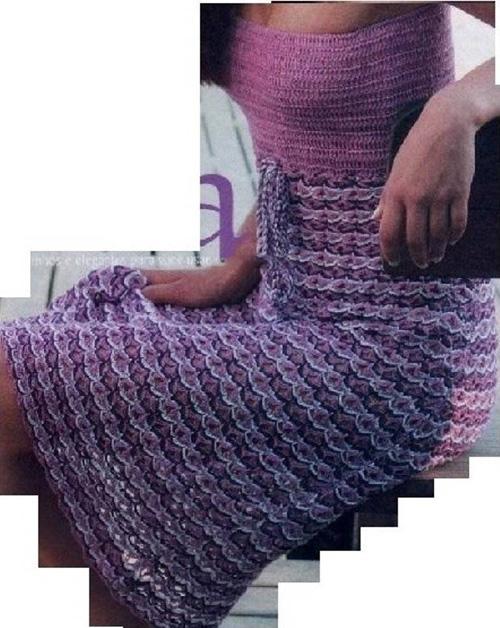 Схема вязания крючком женских