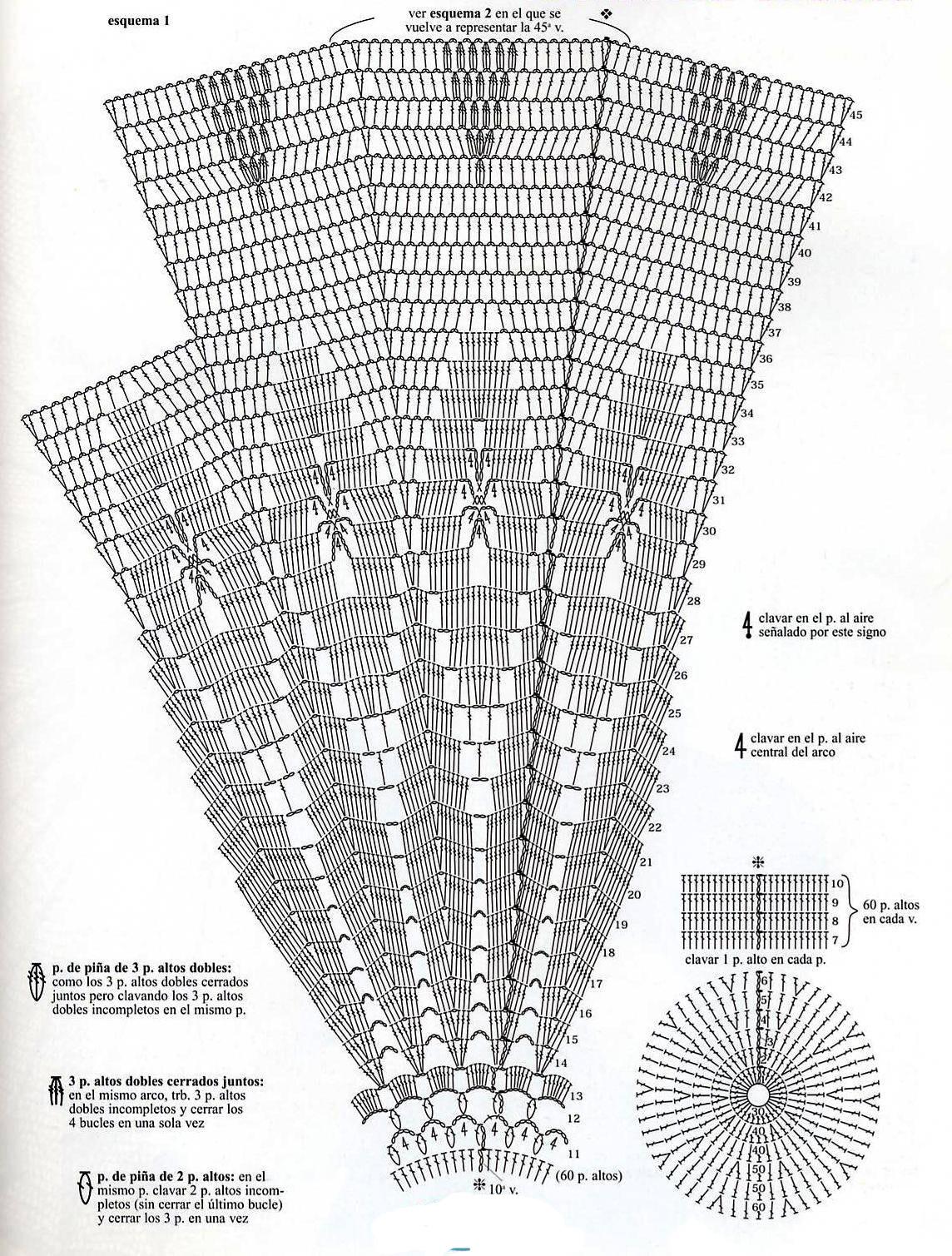 Вязание крючком схем зонтик 156